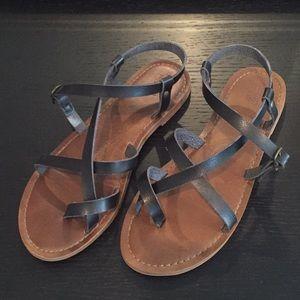 🖤 Mossimo Gladiator Black Sandals Women's Size 7